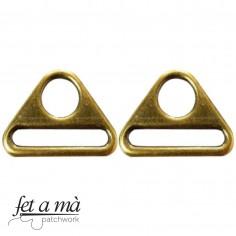Hebillas triangulares oro...