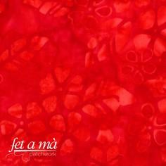 Tela batik flores rojo