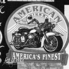 Tela motos blanco y negro