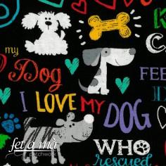 Tela I Love My Dog
