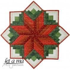 Patrón Tapete Flor de Navidad