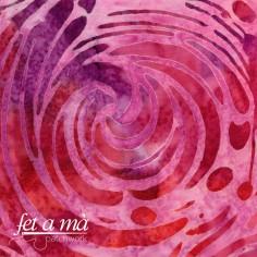 Tela batik - Espirales rosa