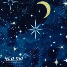 Tela lunas y estrellas