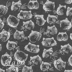 Tela Purrfect Day - Gatos