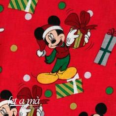 Tela Navidad Disney -...