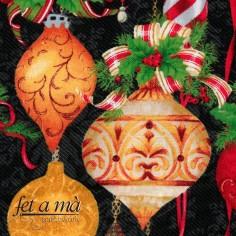 Tela Navidad - Bolas árbol