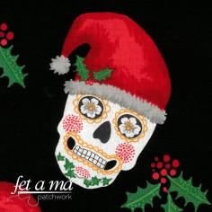 Tela Navidad - Calaveras...