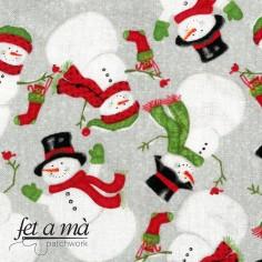 Tela Navidad - Muñecos de...