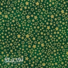 Tela Navidad - Estrellas verde