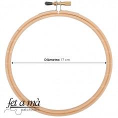 Aro de bordado de 17 cm
