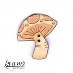 Botón de madera Mushroom 2
