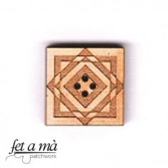 Botón de madera Quilt Block