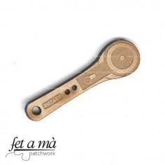 Botón de madera Rotary Cutter