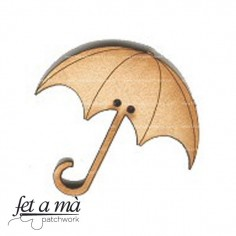 Botón de madera Umbrella
