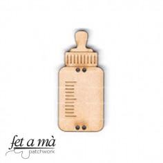 Botón de madera Baby's bottle