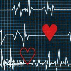 Tela electrocardiogramas negro