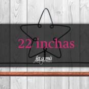22 inchas (56 cm) de ancho