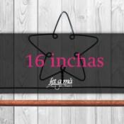 16 inchas (40,73 cm) de ancho