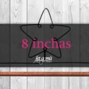 8 inchas (20,37 cm) de ancho