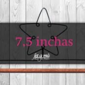7,5 inchas (19 cm) de ancho