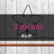 3 inchas (7,64 cm) de ancho