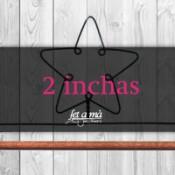 2 inchas (5,10 cm) de ancho
